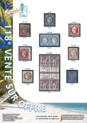 Couverture Catalogue vente sur offre n°118